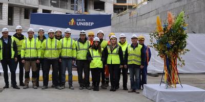 Topping out the first residential building of the Nowa Mangalia housing estate